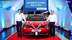 Tata Motors celebrates 1,00,000-rollout milestone for ALTROZ
